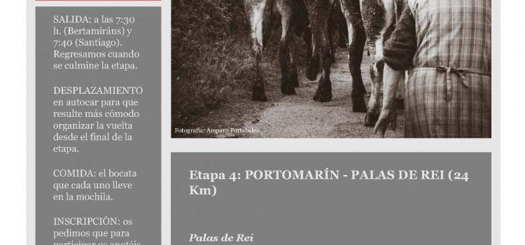 Etapa 4. Camino de Santiago Portomarin – Palas de Rei (24 KM).