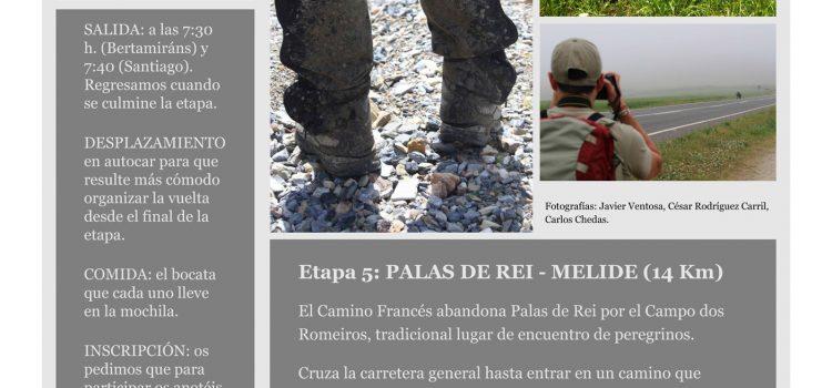 Etapa 5 Camino de Santiago. Nueva Fecha 8/10/16